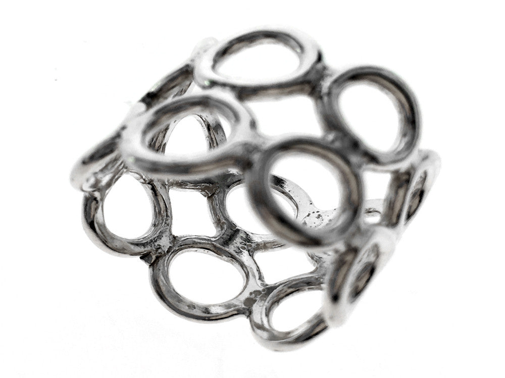 Holey Band Sterling Silver Ring - Essentially Silver Jewelry