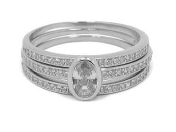 Cubic Zirconia Stacking .925 Sterling Silver Ring - Essentially Silver Jewelry