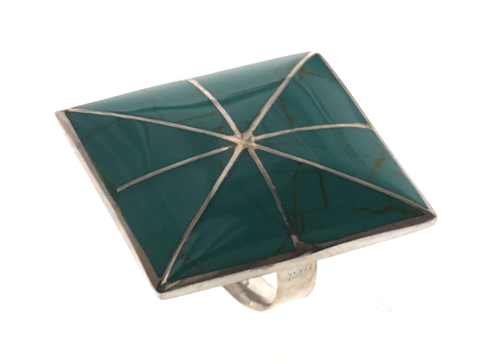 Turquoise Square .925 Sterling Silver Ring