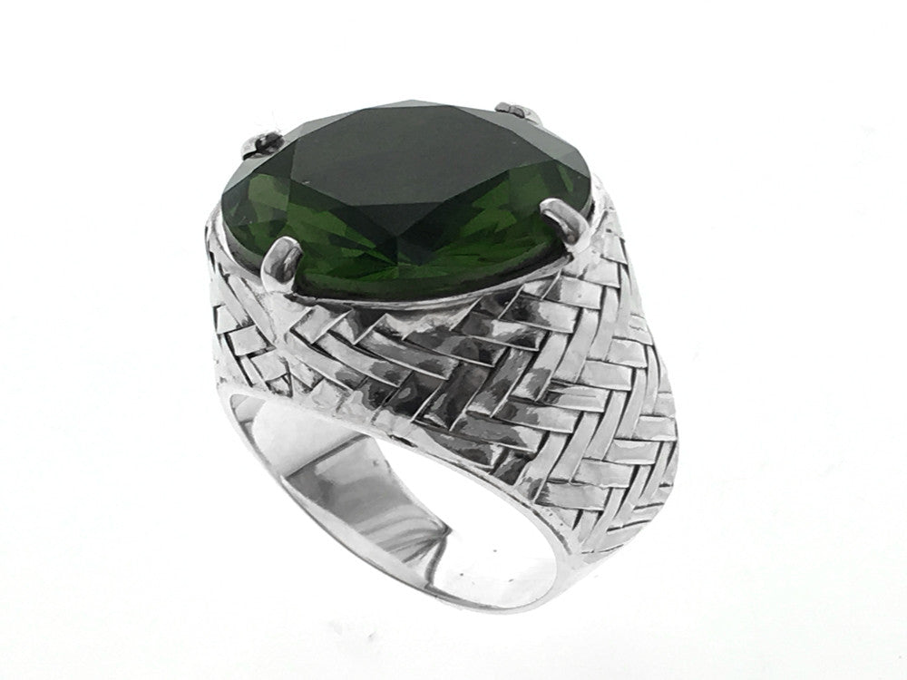 Alexanderite Signit Sterling Silver Ring - Essentially Silver Jewelry