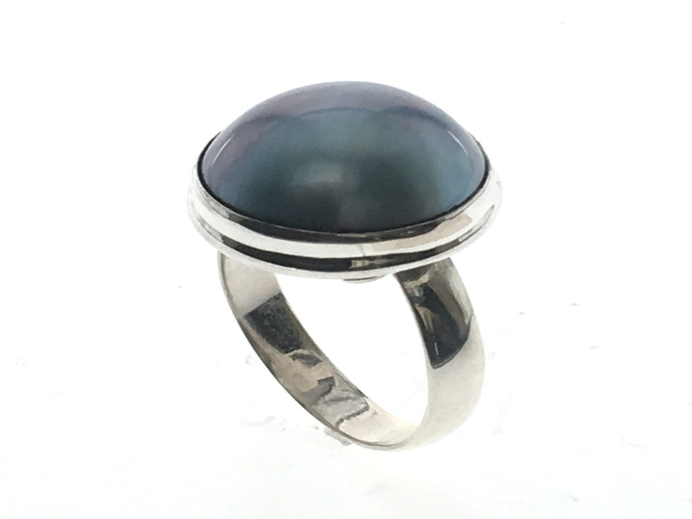 Mabe Pearl .925 Sterling Silver Ring