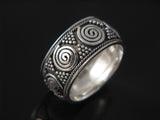 Bali Swirl HW 10mm Sterling Silver Band - Essentially Silver Jewelry