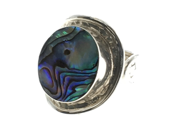Paua Wrap Weaved Sterling Silver Ring