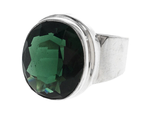 Green Quartz .925 Sterling Silver Ring - Essentially Silver Jewelry