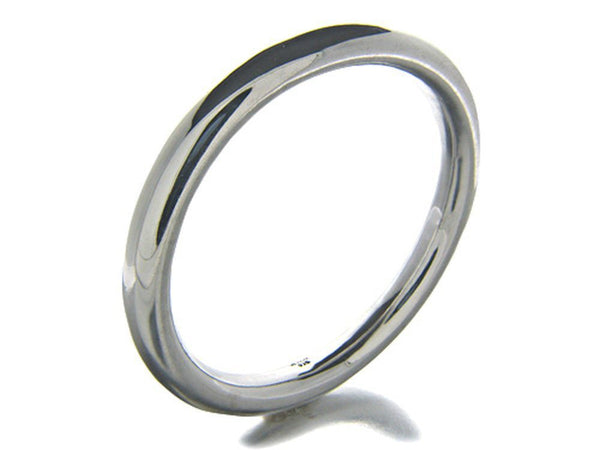 Golf 8mm Oval Plain .925 Sterling Silver Bangle - Essentially Silver Jewelry