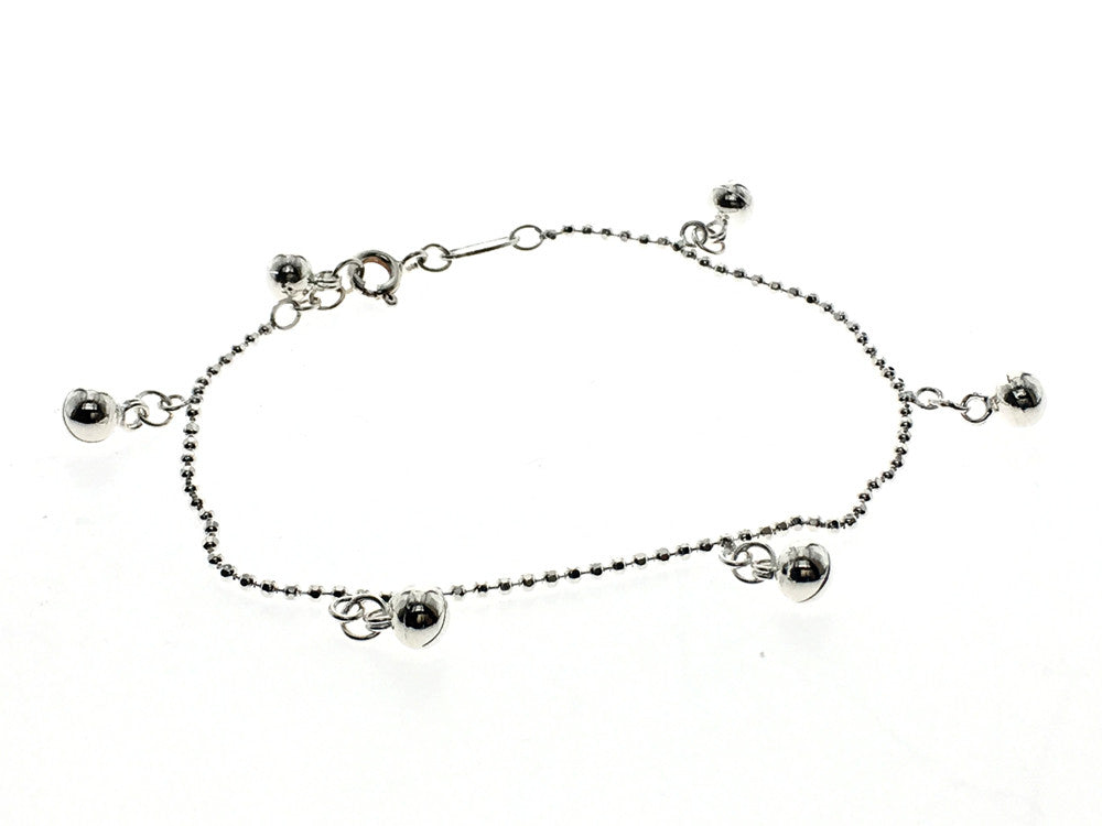 Dainty Jingle Ball Chain Sterling Silver Bracelet - Essentially Silver Jewelry