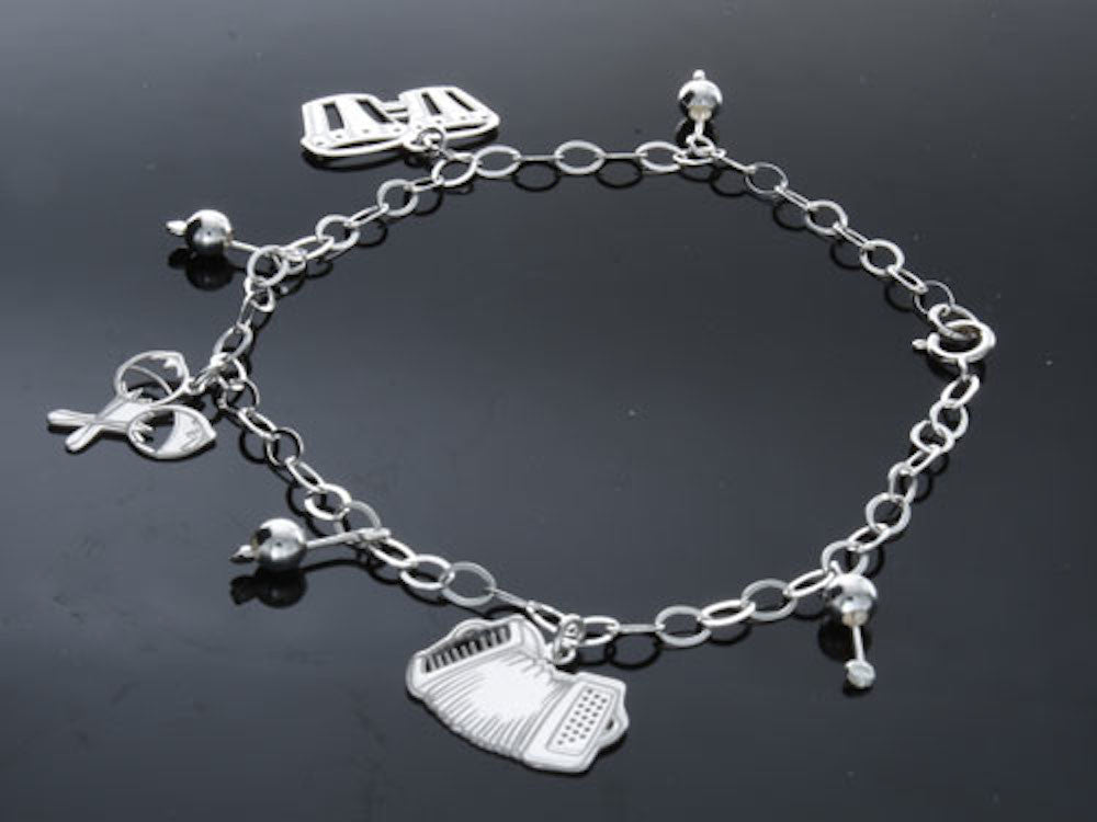 Musical .925 Sterling Silver Charm Bracelet - Essentially Silver Jewelry