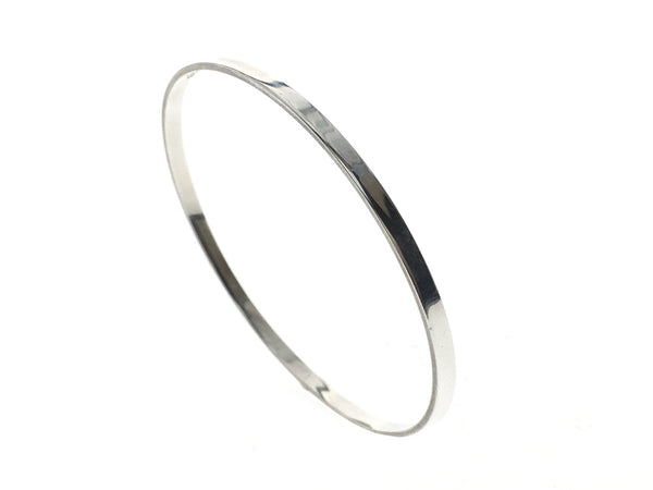Plain 2mm Band Sterling Silver Bangle - Essentially Silver Jewelry