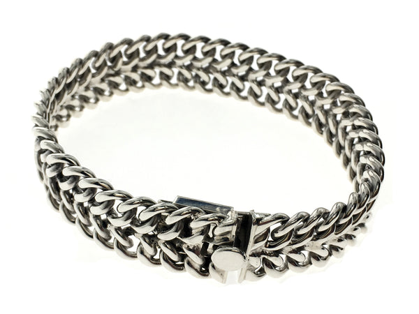 Chunky Weaved .925 Sterling Silver Bracelet - Essentially Silver Jewelry