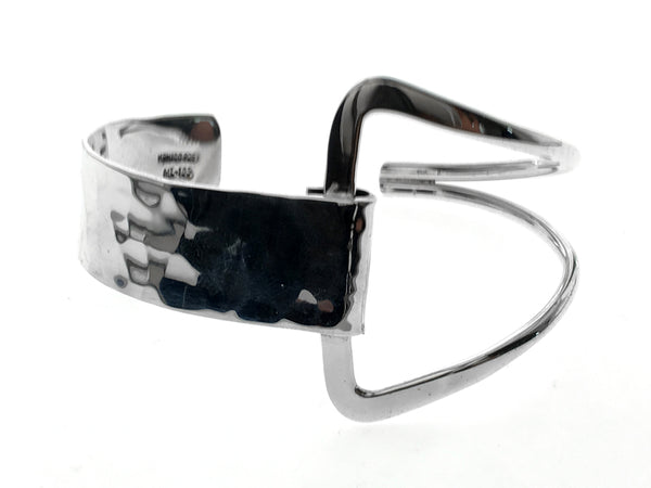 Designer Hammered Sterling Silver Cuff - Essentially Silver Jewelry