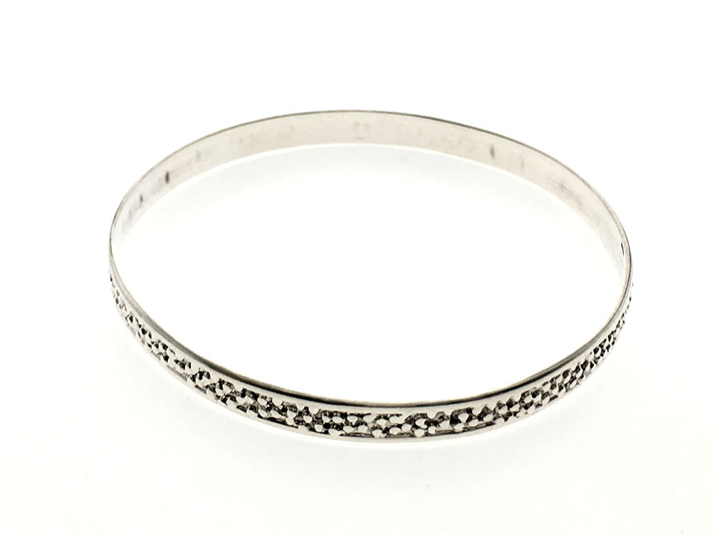 Balled 5mm Sterling Silver Bangle