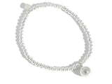 Beaded Ball Sterling Silver Bracelet