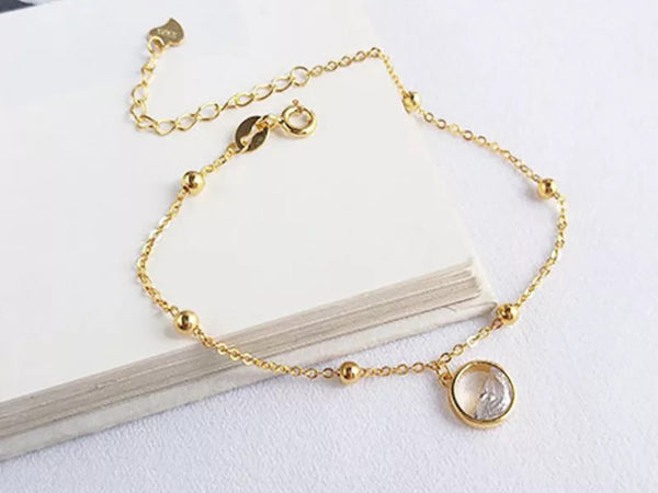 Gold Plated Water Drop Bracelet