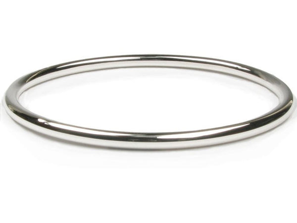 Golf 3.5mm Round Plain Sterling Silver Bangle - Essentially Silver Jewelry