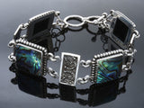 Paua Boxed Filagree .925 Sterling Silver Bracelet