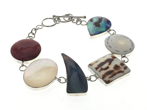 Shell Shaped Sterling Silver Bracelet - Essentially Silver Jewelry