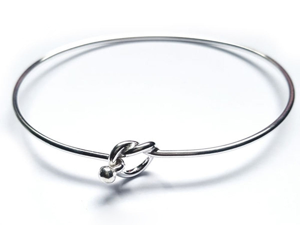 Wire Knot Sterling Silver Bangle - Essentially Silver Jewelry
