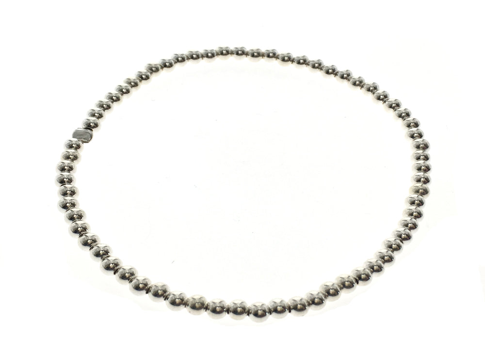 Ball 3mm Sterling Silver Bracelet - Essentially Silver Jewelry