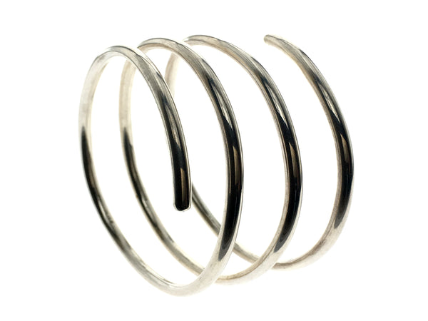 Coil Three Spring 5mm Sterling Silver Bangle - Essentially Silver Jewelry