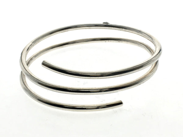 Coil Two Spring 5mm Sterling Silver Bangle - Essentially Silver Jewelry