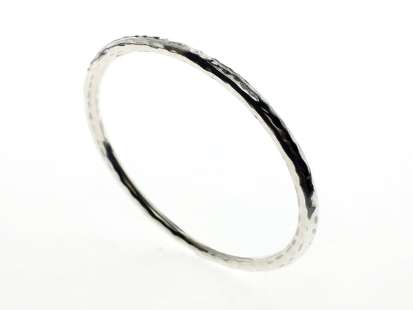 Beaten 4mm Sterling Silver Bangle