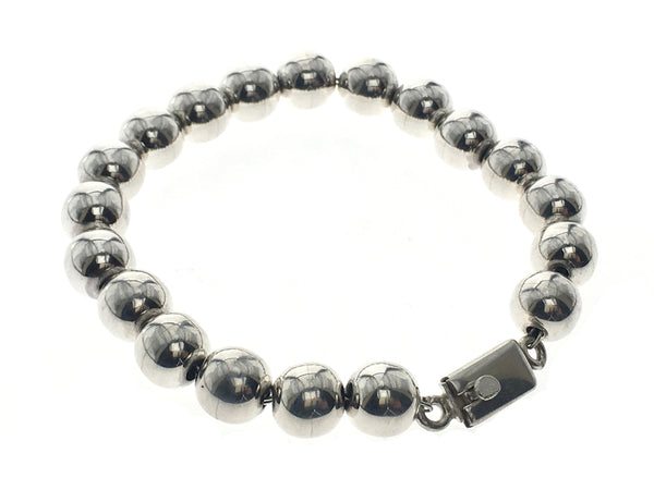 Ball 10mm Sterling Silver .925 Bracelet