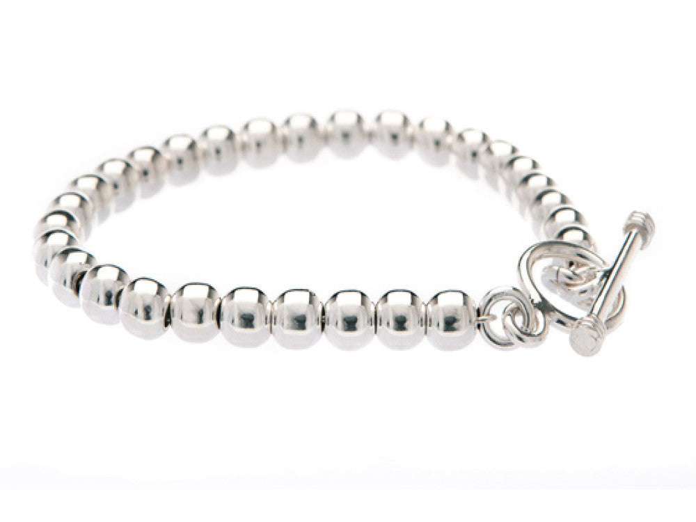 Ball 6mm Bracelet Sterling Silver - Essentially Silver Jewelry