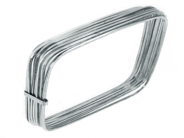 7 Squares 20mm Sterling Silver Bangle - Essentially Silver Jewelry