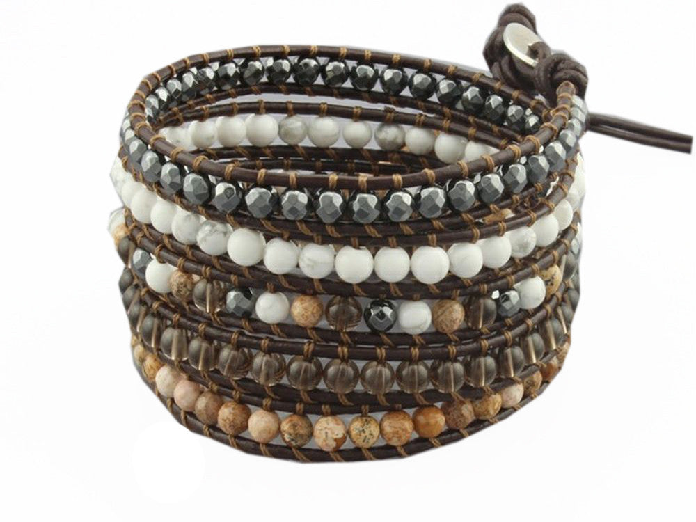 Wrap Hand-Woven Multilayer Stone Bracelet - Essentially Silver Jewelry