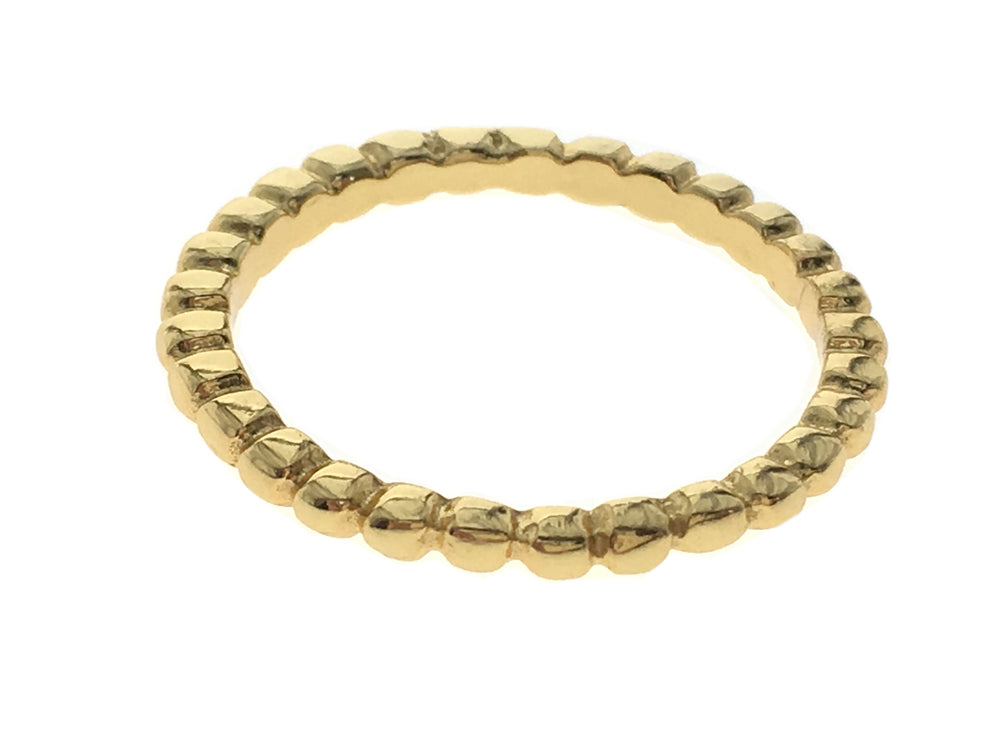 Gold Plated Ball Chain Sterling Silver Band