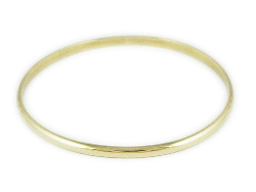 9ct Solid Gold 4mm/58mm Bangle