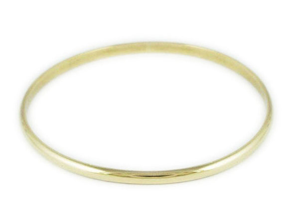 9ct Solid Gold 4mm/61mm Bangle