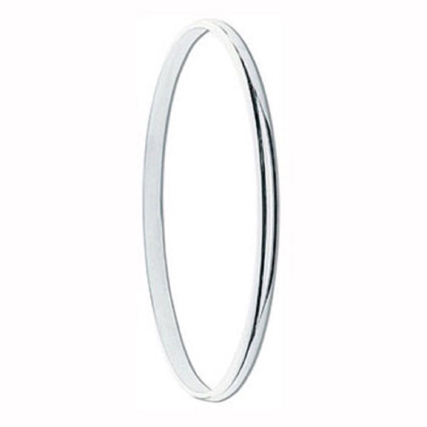 Half Moon 4mm Sterling Silver Bangle