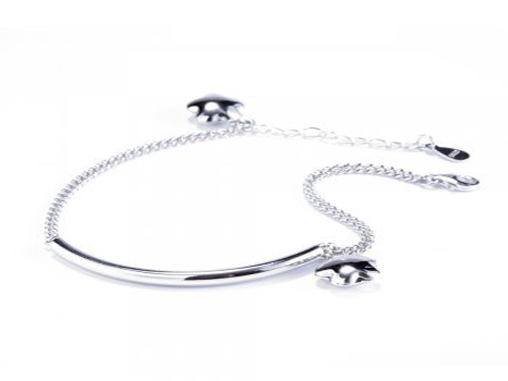 Dainty Sterling Silver Bar Chain Bracelet - Essentially Silver Jewelry