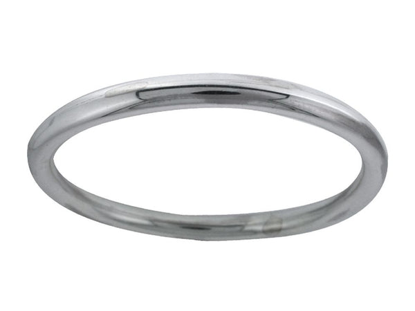 Golf 6mm Oval Plain Sterling Silver Bangle - Essentially Silver Jewelry