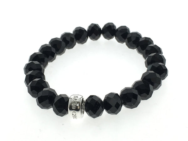 Sabo Black Beaded Bracelet - Essentially Silver Jewelry