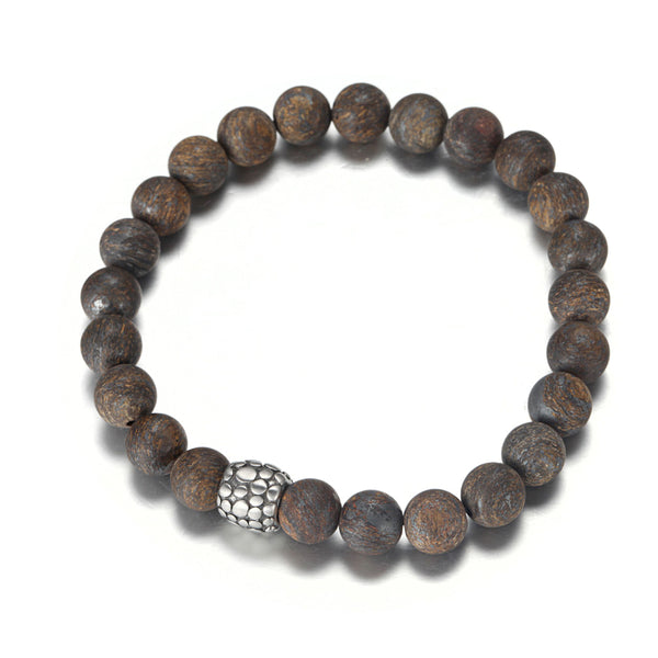Ball Bronzite Stretchy Bracelet