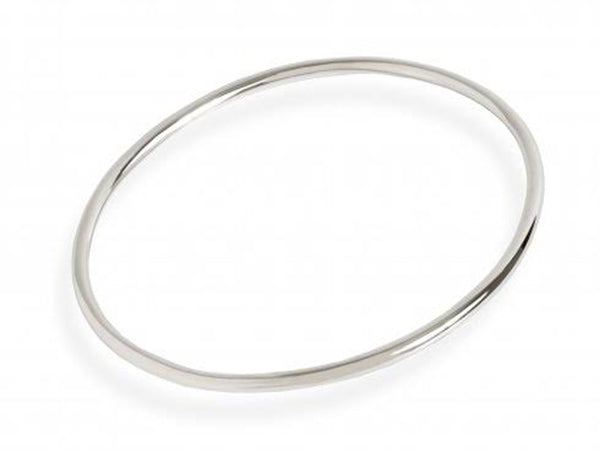 Golf 2mm Round Plain Sterling Silver bangle - Essentially Silver Jewelry