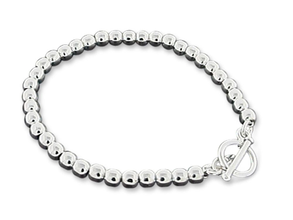 Ball 5mm Bracelet Sterling Silver - Essentially Silver Jewelry