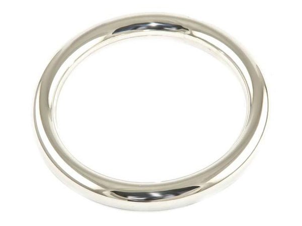 Golf 8mm Round Plain Sterling Silver Bangle - Essentially Silver Jewelry