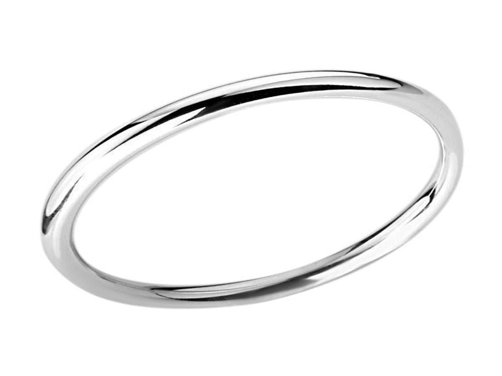 Golf 6mm Round Plain Sterling Silver Bangle - Essentially Silver Jewelry
