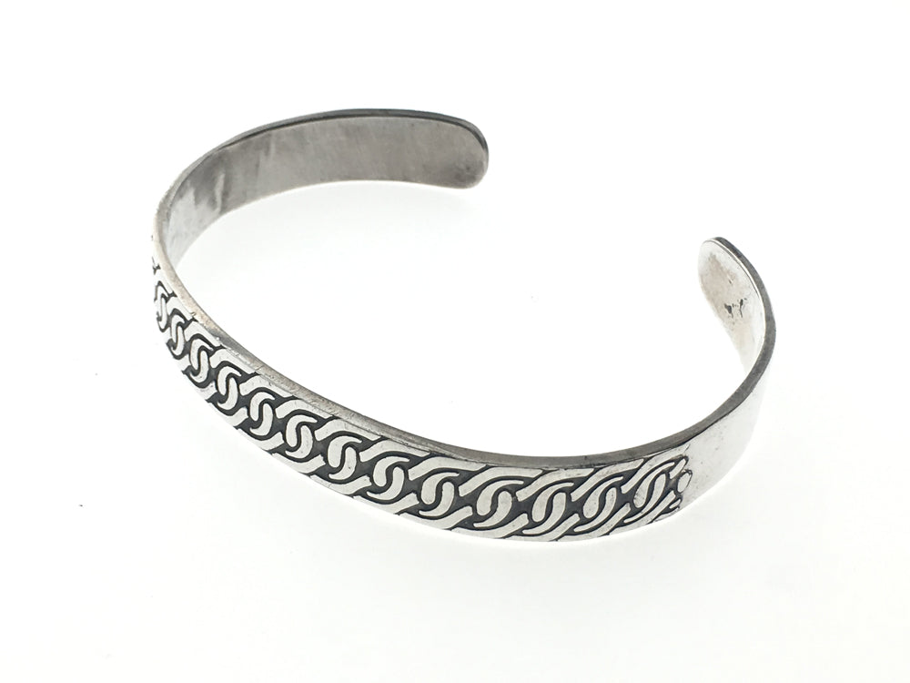 Swirled Patterned Sterling Silver Cuff