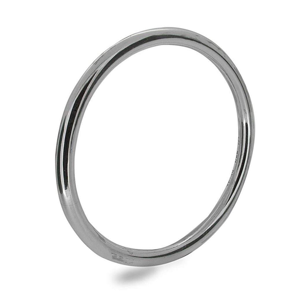 Golf 5mm Round Plain 5mm Sterling Silver Bangle - Essentially Silver Jewelry