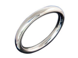 Golf 10mm Round Sterling Silver Bangle