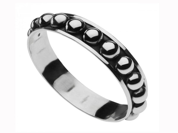 Ball Studded Cast Sterling Silver Bangle - Essentially Silver Jewelry