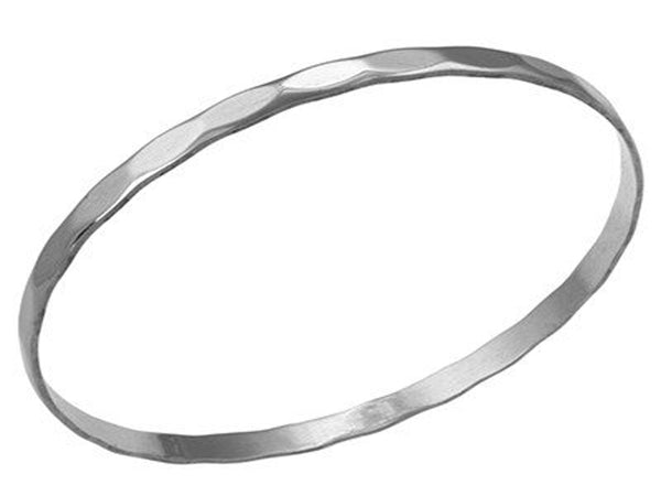 Diamond Cut 4mm Sterling Silver Bangle
