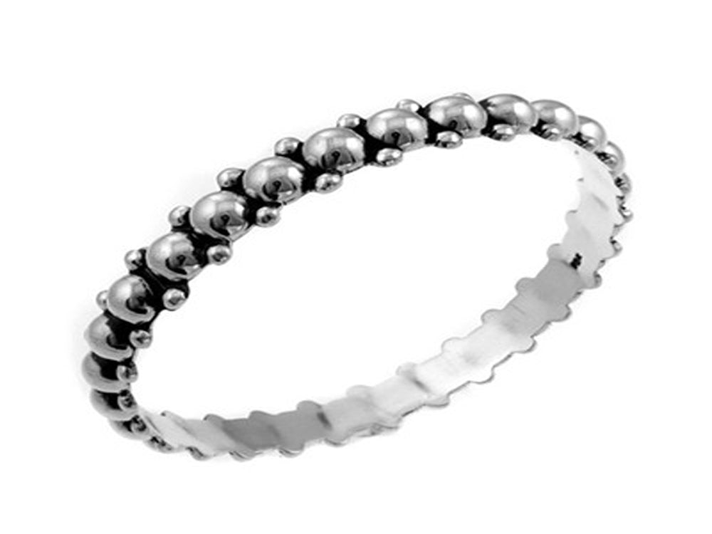 Ball Duo 8mm Sterling Silver Bangle