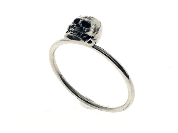 Skull Head Sterling Silver Ring - Essentially Silver Jewelry