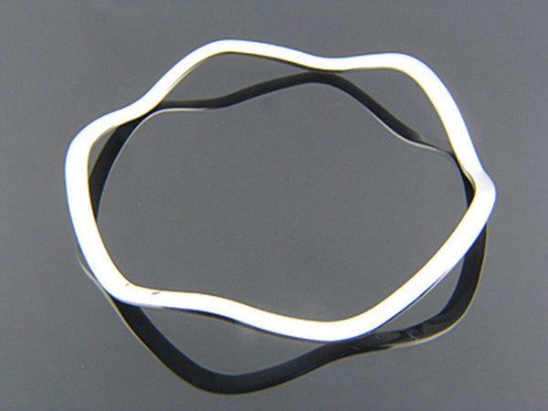 Flat Wave 3 1/2mm Sterling Silver Bangle
