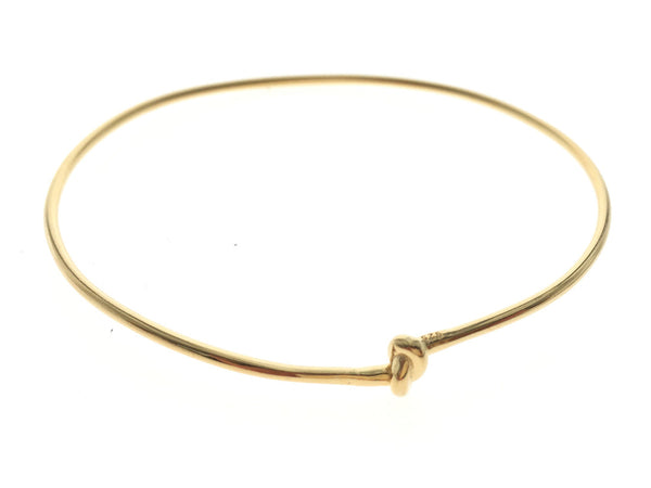 Gold Plated Knotted Sterling Silver Bangle